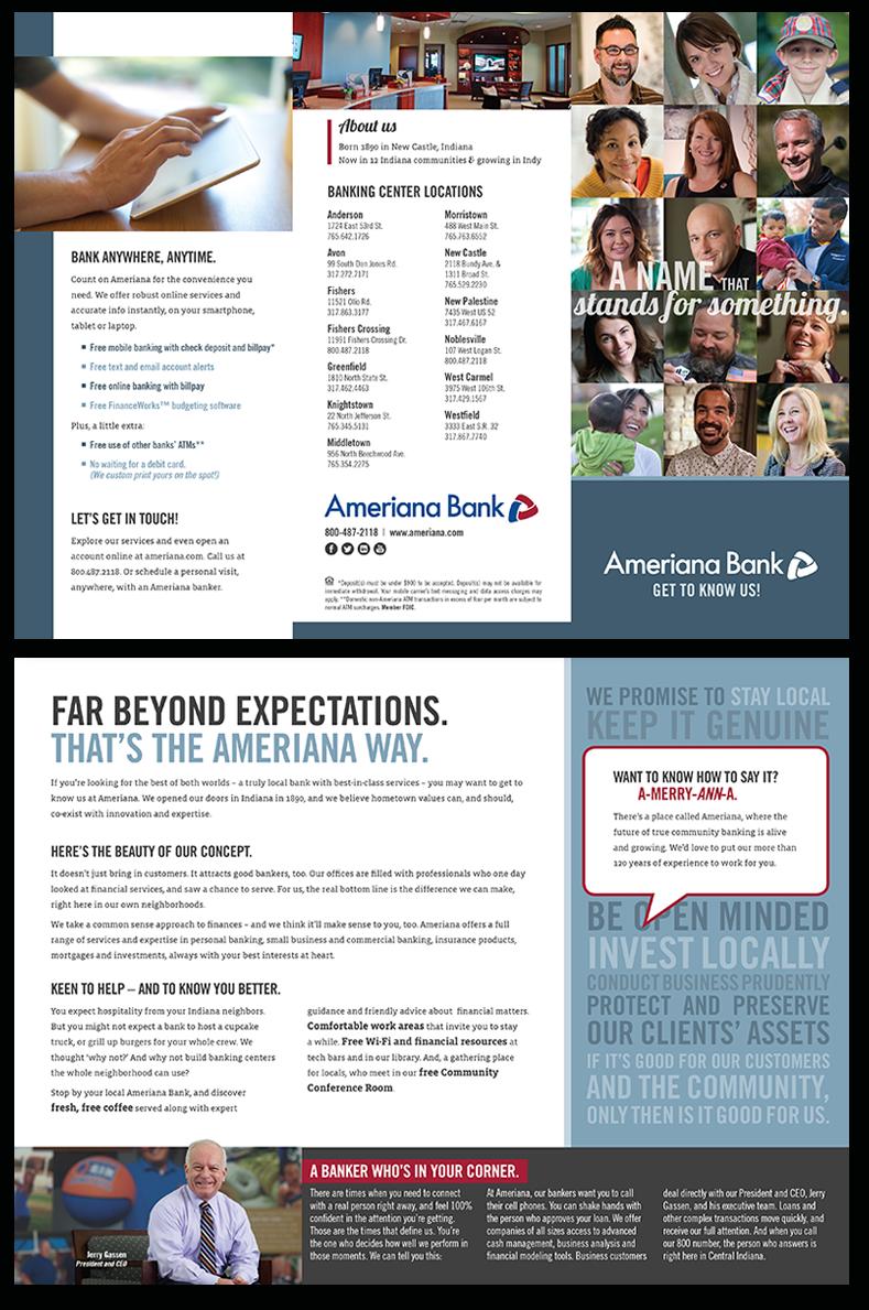 Ameriana Bank Tri-fold